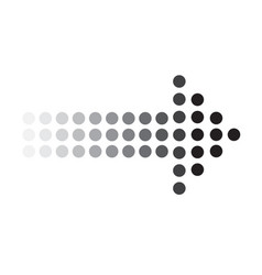 Dots arrow icon on white background dots arrow vector