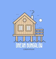 dream bungalow hotel logo vector image