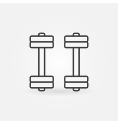 Dumbbell icon or sign vector image