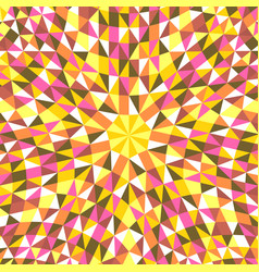 Dynamic hypnotic colorful tiled triangle mosaic vector