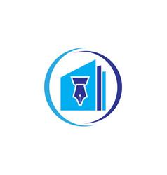 Education logo icon design vector