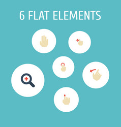 Flat icons rearward enlarge double click and vector