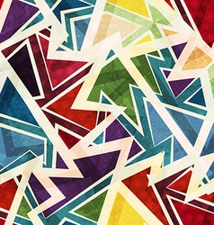 Funky geometric seamless pattern vector