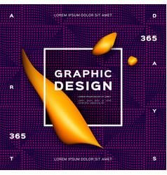 Geometric gradient purple background fluid yellow vector