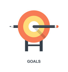 Goals icon concept vector