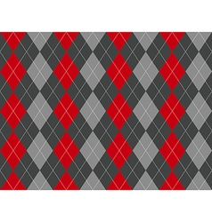 Gray argyle seamless pattern vector image