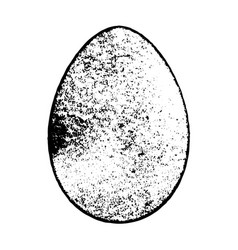 Grunge easter egg vector