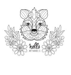 Hand drawn animal quokka doodle vector