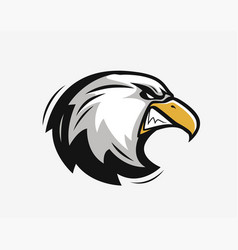 head an angry eagle sports mascot vector image