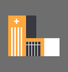 Hospital building icon medical treatment concept vector