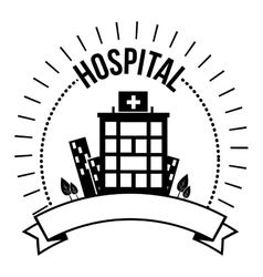 hospital medical center design vector image