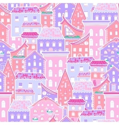 Houses New Pattern 4 vector image