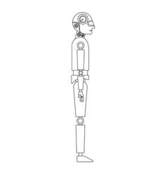 humanoid robot profile icon vector image