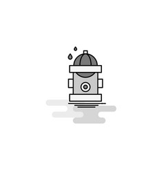 hydrant web icon flat line filled gray icon vector image