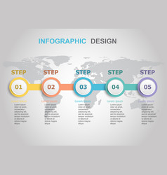 infographic design template with workflow vector image