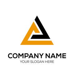 initial a icon mountain logo design vector image