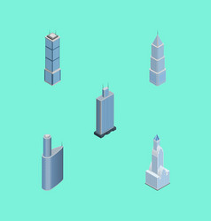Isometric construction set of apartment business vector