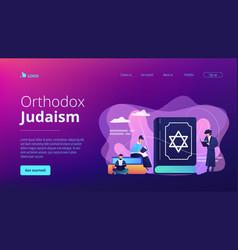 Judaism concept landing page vector