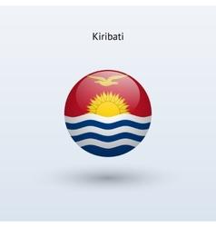 Kiribati round flag vector image