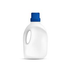 Laundry detergent plastic bottle vector