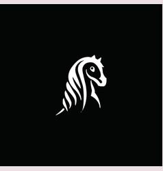 Line art horse vector