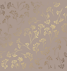 luxury golden floral pattern on a brown vector image