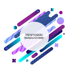 memphis motion design geometric background vector image