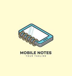 mobile notes logo vector image