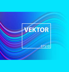 Modern colorful flow poster liquid shape in blue vector