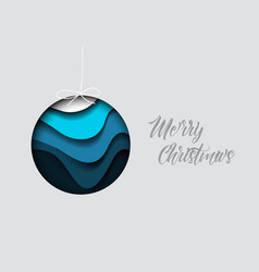 modern minimalistic christmas card vector image