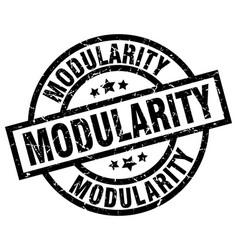 Modularity round grunge black stamp vector