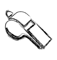 monochrome sketch of whistle icon vector image