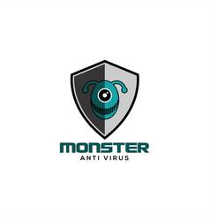 Monster anti virus logo vector