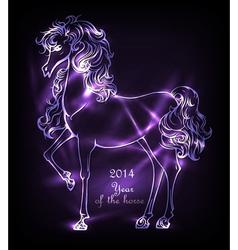 Neon horse vector