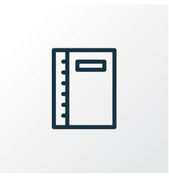 notebook icon line symbol premium quality vector image