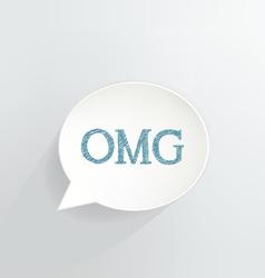 OMG vector image