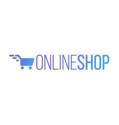 online shop logo vector image