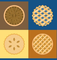 pie icon set vector image