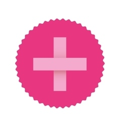 Pink emblem symbol breast cancer and cross vector