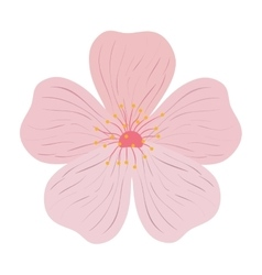 Pink Flower icon Garden design graphic vector