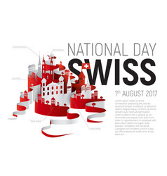 poster or banner to the switzerland national day vector image