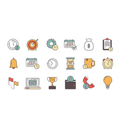 productive management icon business productivity vector image