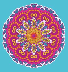 Round colorful mandala vector