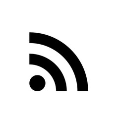 rss feed icon isolated vector image