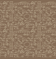 seamless transport pattern vector image