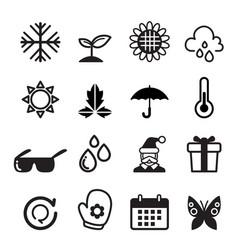 season icon set vector image