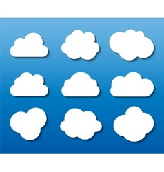 Set of Cloud Shaped Frames vector image