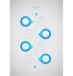 Team - infographic template together everyone vector image