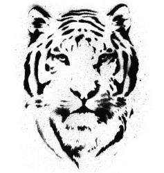 Tiger stencil vector vector