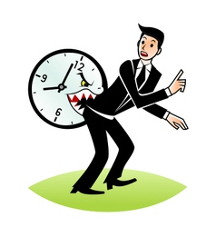 Time bites vector image